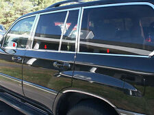 6PC STAINLESS WINDOW SILL ACCENT TRIM FITS 2004 2005 2006 2007 LEXUS LX 470