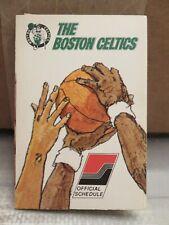 BOSTON CELTICS 1974-1975 BASKETBALL POCKET SCHEDULE