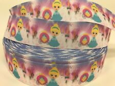Sale 3 Yards 1� Printed Single Sided Cinderella Kid Disney Grosgrain Ribbon Lisa