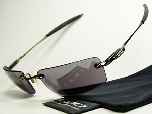 Oakley Why 8.2 Black Chrome Sonnenbrille Square Wire Nanowire Wiretap Tightrope