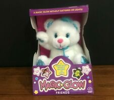 Applause Magic Glow Friends Bear Vintage 1992 Plush Toy White Blue New in Box