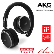 AKG N60NC Noise Cancelling, Wireless Bluetooth, Compact Headphones  - Black