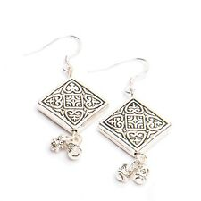 Lot of 25 Tibetan Silver Tribal Design Dangle Earrings - WHOLESALE