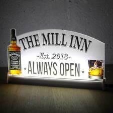 """Whiskey Custom Home Bar Light Up LED Sign, Neon Whisky Sign Bar Open Sign,12""""x6"""""""