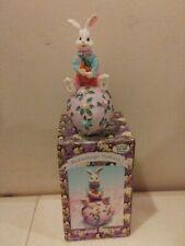 Vtg 1995 Resin Easter Bunny Egg Figurine Hermitage Pottery Loomco International
