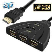 ✅3 Geräte auf 1 Monitor anschließen HDMI Splitter Verteiler Adapter PS4 XBOX TV✅