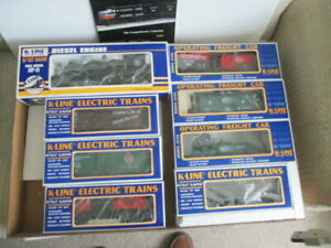 K-Line Electric Train MP-15 Diesel Engine  7 cars NYC Hudson Valley New in boxes