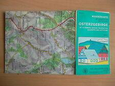 Wanderkarte Osterzgebirge 1972/Altenberg,Geising,Glashütte/Wintersport/ DDR