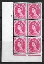 8d Wilding Violet 9.5mm Phos cyl 4 No Dot perf F/L with misperf UNMOUNTED MINT