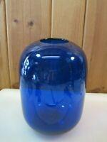 """Large 10.5"""" Pottery Barn Cobalt Blue Art Glass Vase  B3163"""