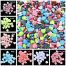 12mm Dia Heart-shaped Beads Flat Resin Striped Beads for Jewelry Making DIY