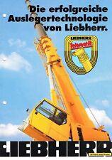 Liebherr Auslegertechnologie, orig. Prospekt 90er Jahre