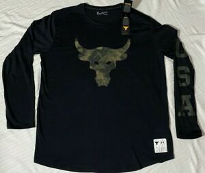 Under Armour Men's Project Rock Veteran's Day Graphic Long Sleeve Shirt Sz. MD