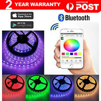 RGB LED Strip Lights IP65 Waterproof 5050 5M 300 LEDs 12V + Bluetooth Controller