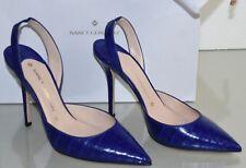 Nuevo Nancy Gonzalez Majita Cocodrilo Destalonado Mate Azul Cobalto Zapatos 40.5