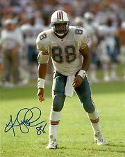 Dolphins KEITH JACKSON Signed 8x10 Photo #1 AUTO ~ Miami Pro Bowler