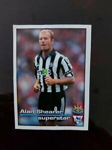 MERLIN PREMIER LEAGUE 2001 Alan Shearer FOOTBALL STICKERs RARE Newcastle fc