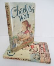 CHARLOTTE'S WEB by E B White with Garth Williams Illus, early reprint in DJ