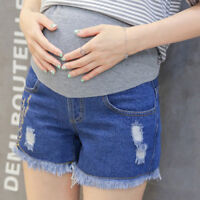 Maternity Shorts Jeans Over Bump Denim Pants Trousers Cute Comfy 6 8 10 12 14
