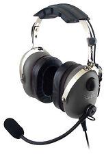 Sl-900m Grey Skylite Aviation Pilot Mp3 Headset WT GEL GA Dual Plug Bag