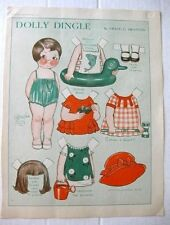 August 1930 Dolly Dingles Paper Magazine Doll Garden Outfits