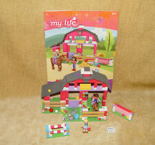 MMEGA BLOKS: MY LIFE AS: BLUE RIBBON RANCH PLAYSET W/ INSTRUCTIONS 99% FRIENDS