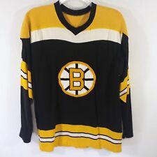 Vintage Winnwell NHL Large Boston Bruins Hockey Jersey #7 Esposito Black Ray