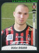 DIDIER DIGARD FRANCE OGC.NICE REAL BETIS UPDATE STICKER FOOT 2010 PANINI
