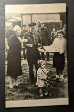1945 Denmark Royal Family Amsterdam Real Photo Postcard RPPC Cover