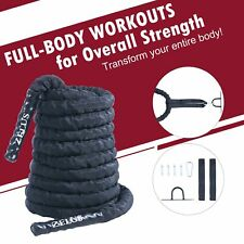 """Battle Rope 30'  40' Home Gym Exercise Kit 1.5"""" Workout Rope with Anchor Set"""