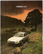 Citroen CX 1978-79 UK Market Sales Brochure 2000 2400 Super Pallas GTi Prestige