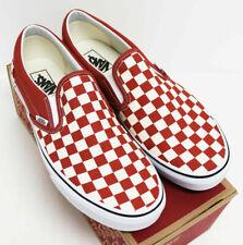 NIB VANS Men's Slip-On Checkerboard Hot Sauce Red Sz 11.5 Low Top Sneakers Shoes