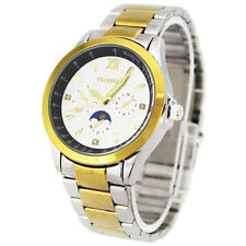 THAITIME Luminous Pointer Stainless Steel Big Dial Quartz Men's Wrist Watch