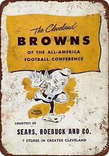 1946 Cleveland Browns Vintage Look Reproduction Metal 8 x 12 made USA
