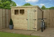 Wooden Garden Shed 8x6 Shiplap Pent Shed Tanalised Pressure Treated Windows