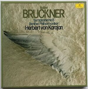 KARAJAN / BRUCKNER Symphonie Nr. 8 2LP 1976 DGG Box (GERMANY) NM/EX