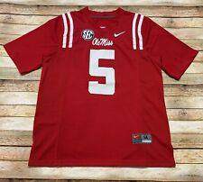 Nike OLE MISS REBELS Jersey ROBERT NKEMDICHE #5 NCAA College FOOTBALL Red Medium