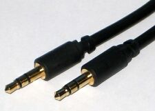 Stereo 3.5mm Jack to Jack Cable Slim Ideal for recessed jack connections 1.5m