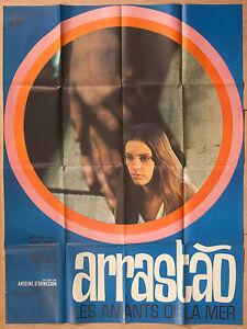 "'ARRASTAO' FRENCH VINTAGE 1966 CINEMA POSTER FEATURING DUDA CAVALCANTI 63"" x 47"""