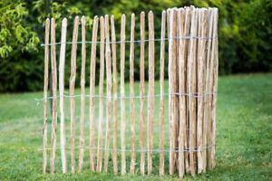 Staketenzaun Gartenzaun Holzzaun Zaunlatte Kastanienzaun imprägniert 50 90 120cm