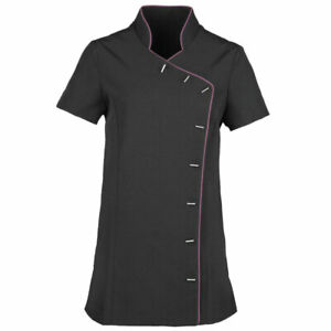 Premier Lily Beauty Tunic | Black & Pink | UK Size 16 | BN | Spa Uniform