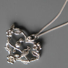 Lepos, Sterling silver Birds Pendant Necklace