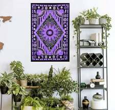 Purple Sun Moon Poster Tapestry Mandala Dorm Decor Cotton Hippie Wall Hanging