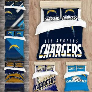 Los Angeles Chargers 3PCS Duvet Quilt Cover Pillowcase All Season Bedding Set US