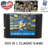 820 In 1 Video Game Cartridge For Sega Mega Drive 16-Bit Card Multi Cart console