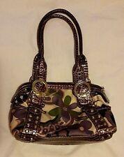 Kathy Van Zeeland Satin Purple Floral Handbag