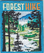 """FOREST HIKE"" PATCH - SPORTS - HIKING - OUTDOORS -IRON ON EMBROIDERED APPLIQUE"