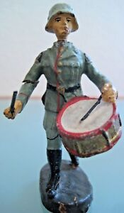 Soldier Old IN Composition Elastolin to the / Of Parade Playing Case Clear