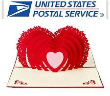 3D Pop Up Big Heart Valentine Anniversary Wedding Birthday Greeting Card