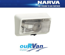 1 x NARVA 86830 Caravan Camper Square Porch Light w/switch Genuine Jayco Windsor